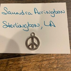 Vintage Tiffany & Co. peace sign charm